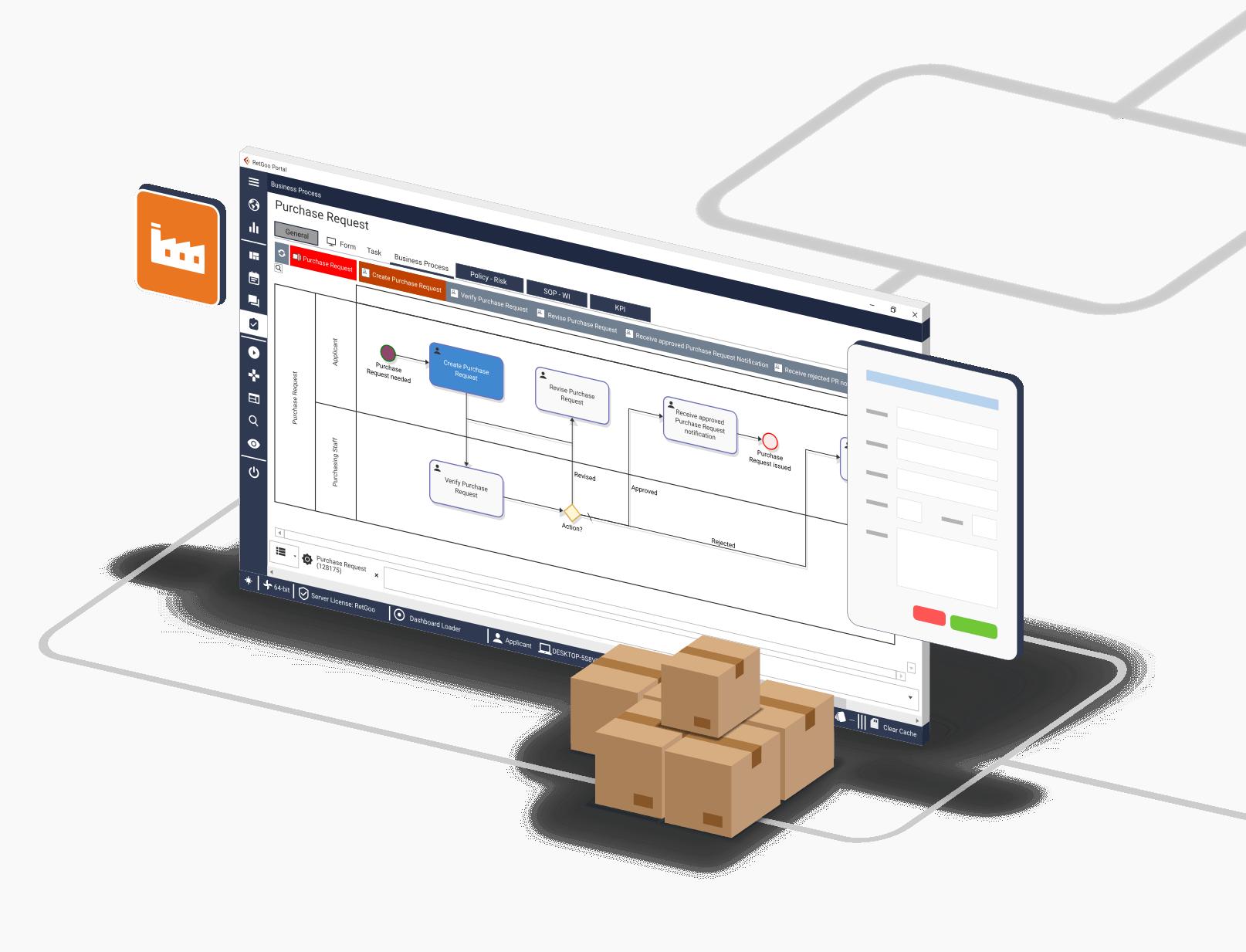 RetGoo Portal 2020 - Diagram manufaktur 3D transparan