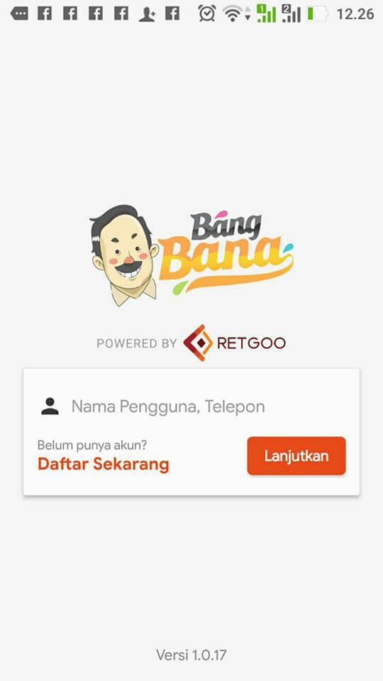 Mobile App: Bana Sales & Distribution Login Page