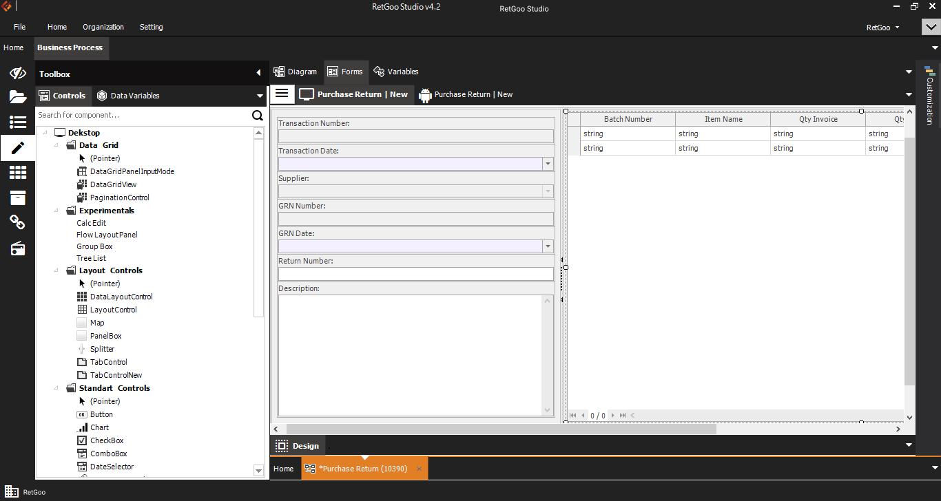 RetGoo Studio - Form dan Toolbox