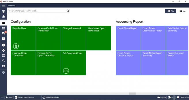 RetGoo Portal: Dashboard Proses Bisnis