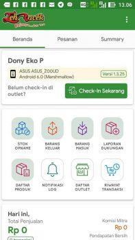 Mobile App: Teh Racek Indonesia Dasbor
